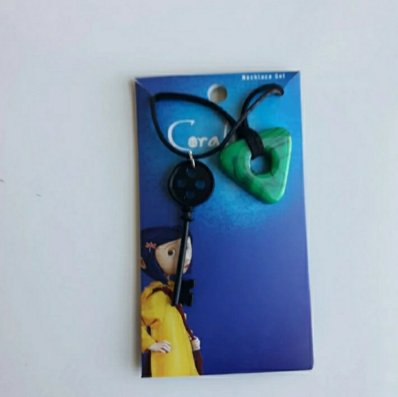 Coraline LAIKA- Key and Seeing Stone necklace set